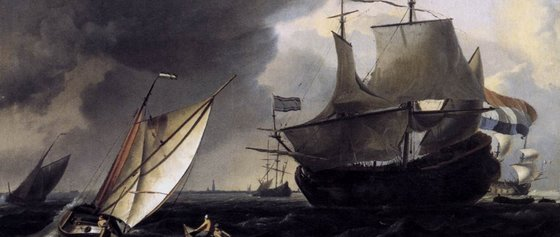 Ludolf Bakhuizen Dutch Vessels on the Sea at Amsterdam